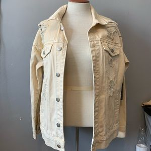 Casual Beige Jean jacket
